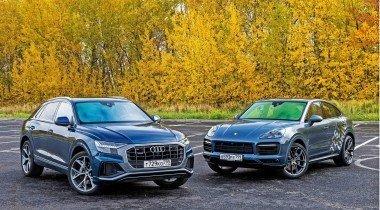 Audi Q8 против Porsche Cayenne S Coupe. Близнецы небратья