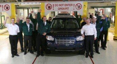 Land Rover произвел двухсоттысячный Freelander 2