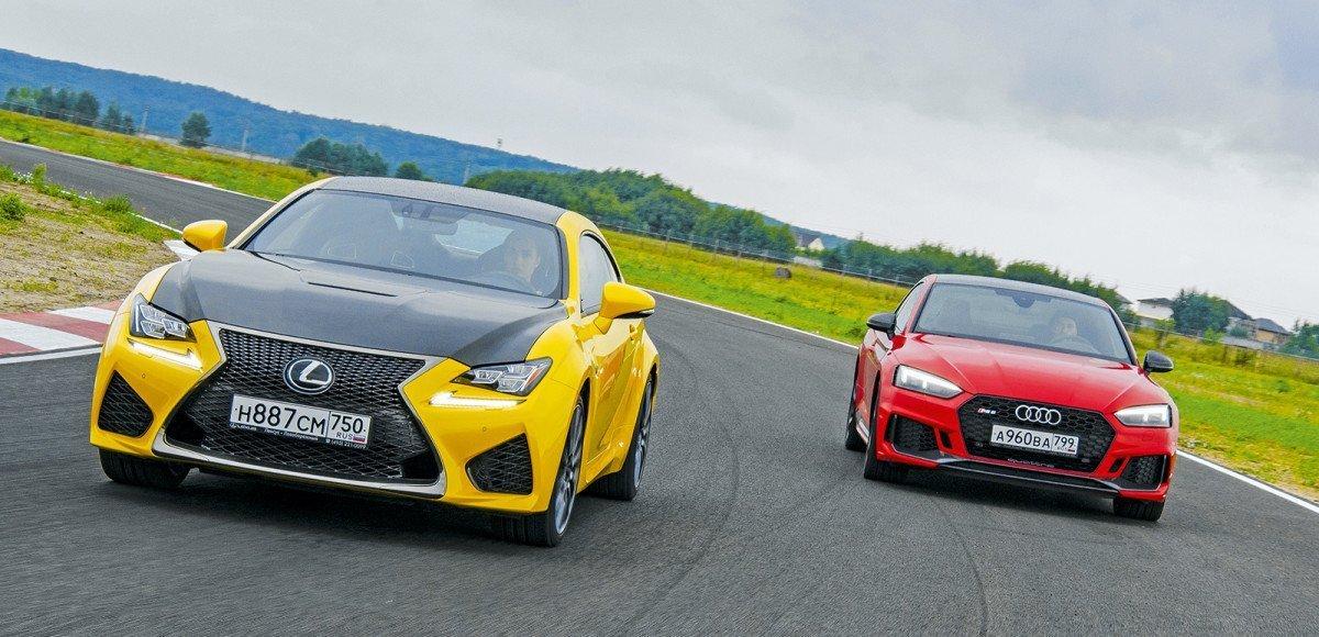 450-сильный Audi RS5 против 477-сильного Lexus RC: мнение журналиста, гонщика и девушки