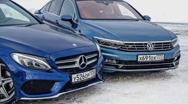 Mercedes-Benz C-Class против VW Passat. Неравенство