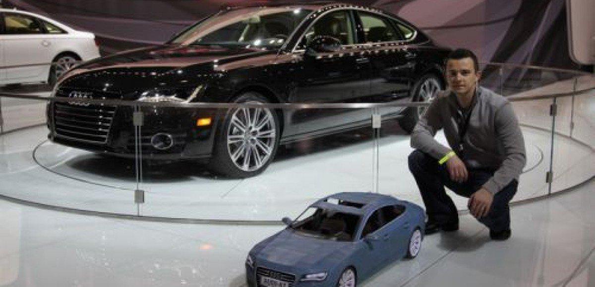 Бумажный Audi A7 – звезда автошоу в Нью-Йорке