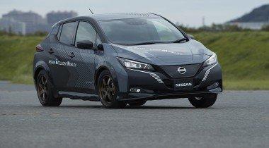 Nissan разработал электромобиль c двумя моторами