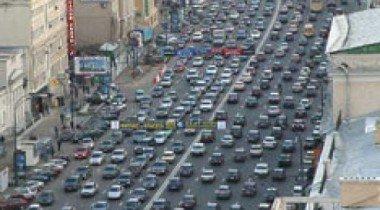 На Ленинградском проспекте образовалась пробка
