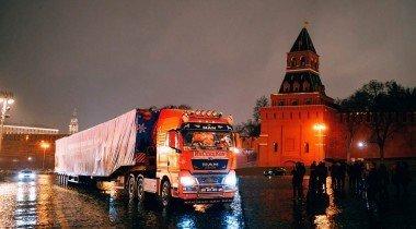 MAN TGX доставил главную новогоднюю елку в Кремль