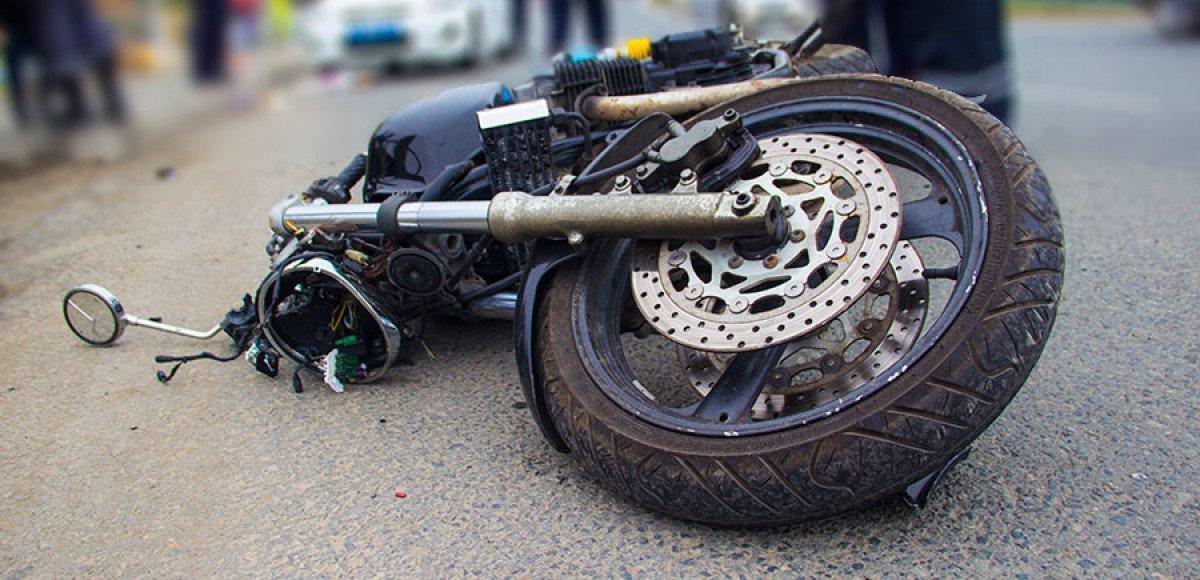 Врезался мотоциклист