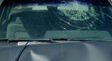 В центре Москвы лихач разбил припаркованную иномарку