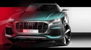 Audi Q8: Новый эскиз и дата премьеры