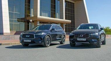 Infiniti QX50 против Volvo XC60. Сравниваем кроссоверы премиум-класса «не из Германии»