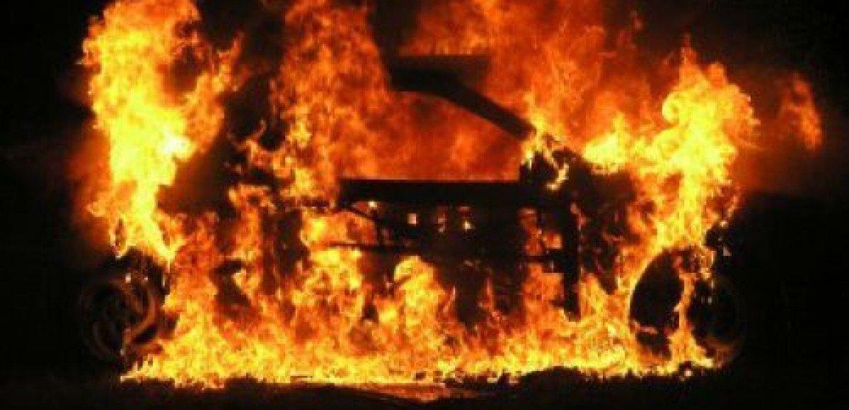 На Ярославском шоссе ночью сгорела иномарка