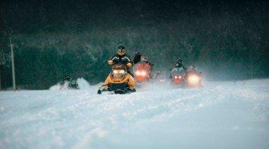 Снегоходная трасса. Первая на Урале