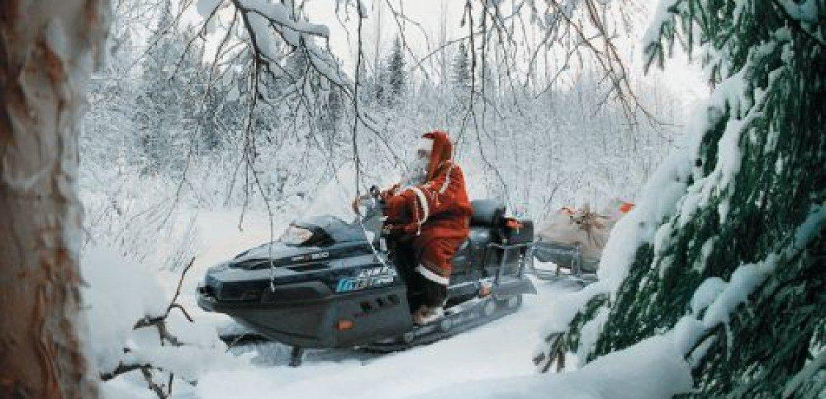 Экспедиция на снегоходах. Привет Санта-Клаусу от Деда Мороза