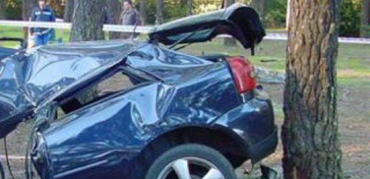 Семейная пара и их грудной ребенок выжили в аварии, в которой их машину разорвало пополам
