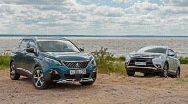 Тест-драйв Mitsubishi Outlander против Peugeot 5008. Кто кого?