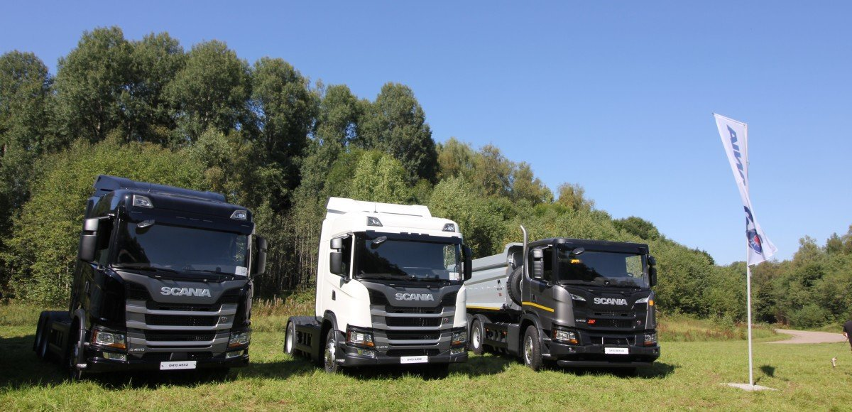Scania представила широкий модельный ряд техники на метане