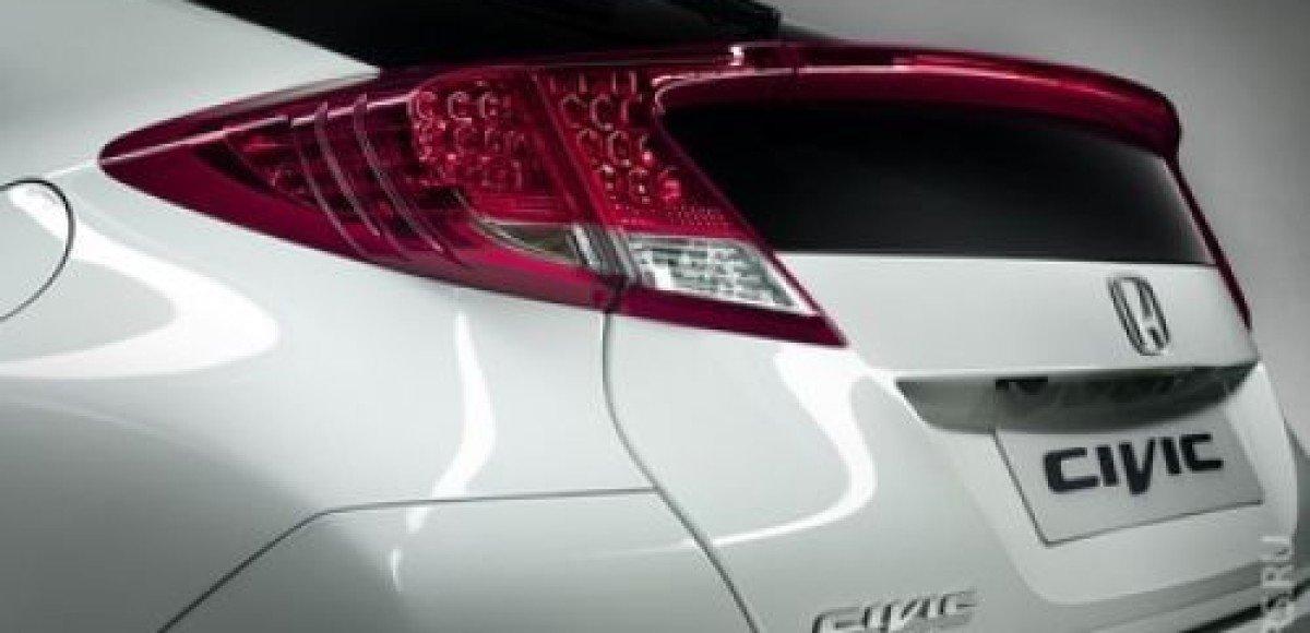 Honda распространила тизер нового хэтчбека Civic