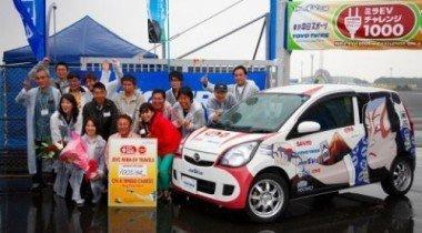 Японцы установили рекорд для электромобилей, проехав на одной заправке тысячу километров