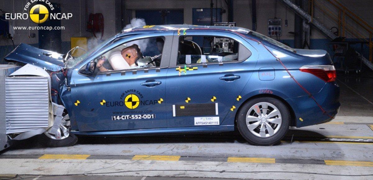 Citroen C-Elysee получил три звезды EuroNCAP
