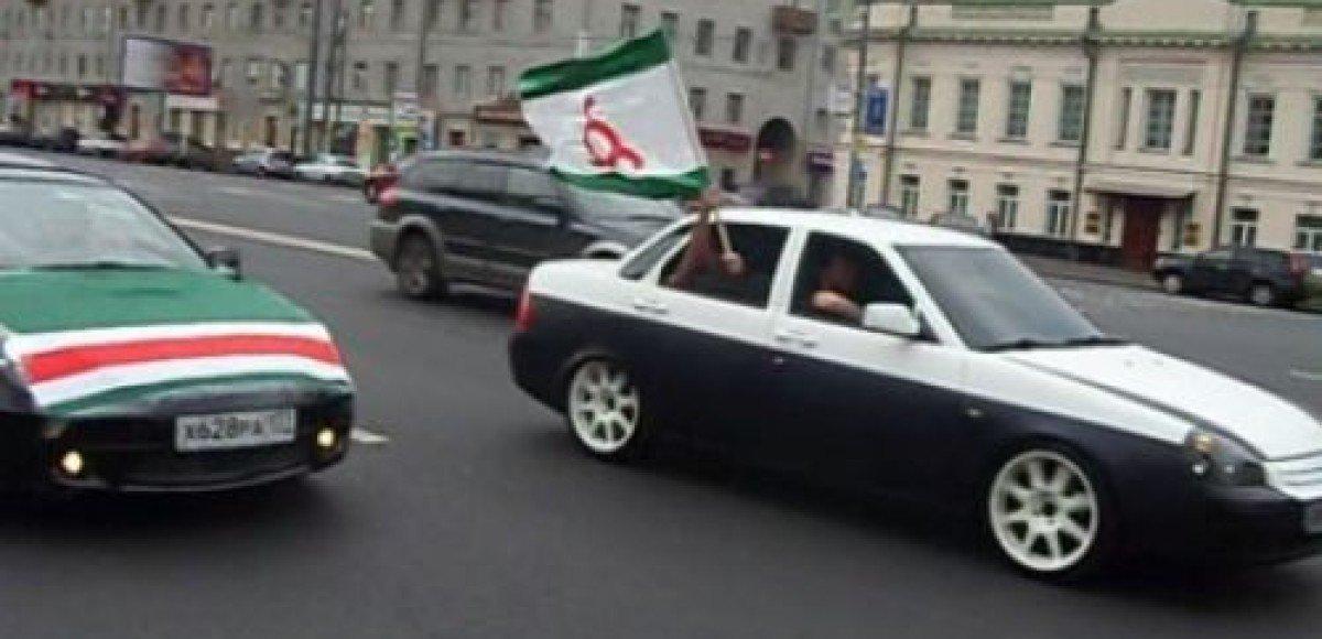 Вайнахский автопробег в Москве закончился в отделении милиции