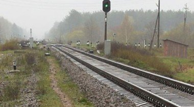 На Украине электричка столкнулась с автобусом
