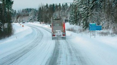 В Красноярском крае из-за холодов закрыли федеральную трассу