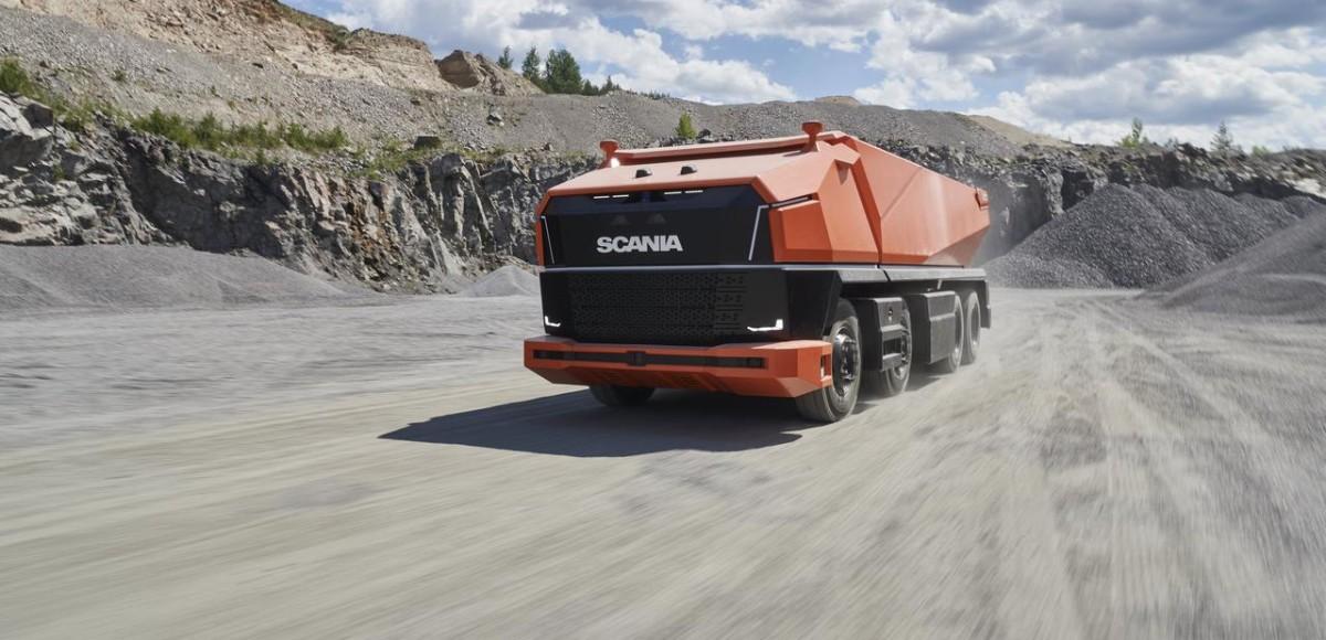 Scania AXL: беспилотник для горнодобычи