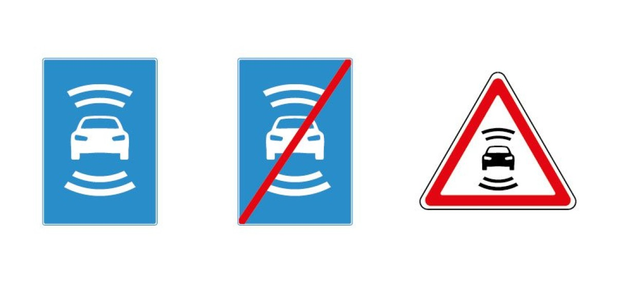 В России придумали новые знаки для беспилотных автомобилей