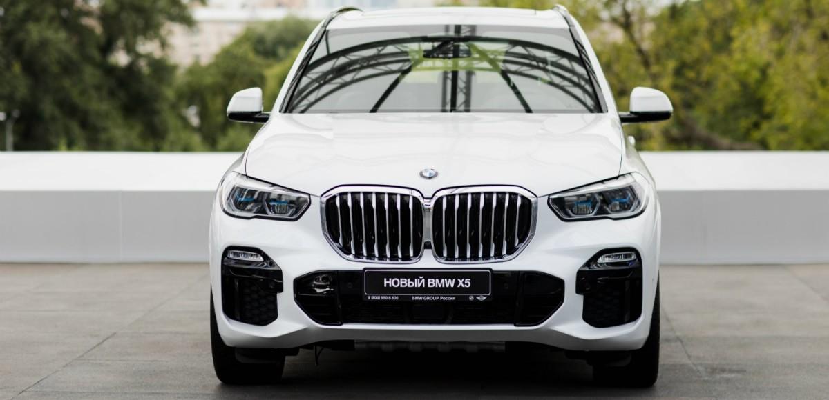 Новый BMW X5 впервые показан в России