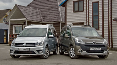Volkswagen Caddy против Citroen Berlingo. Дачный ответ