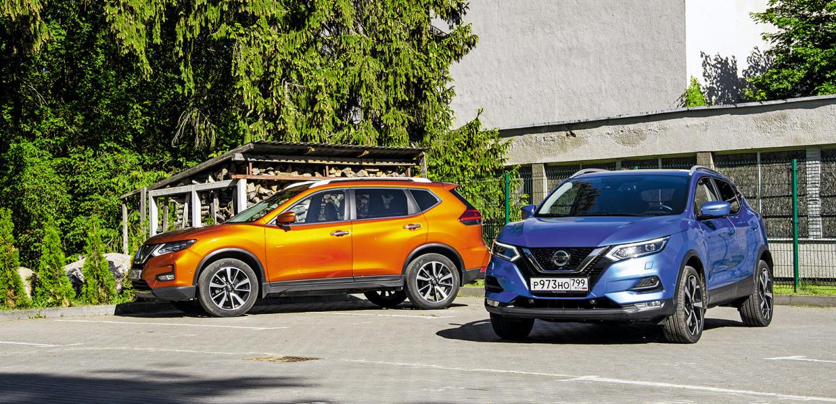 Сравнительный тест Nissan Qashqai и X-Trail. Что общего и в чем отличия этих кроссоверов