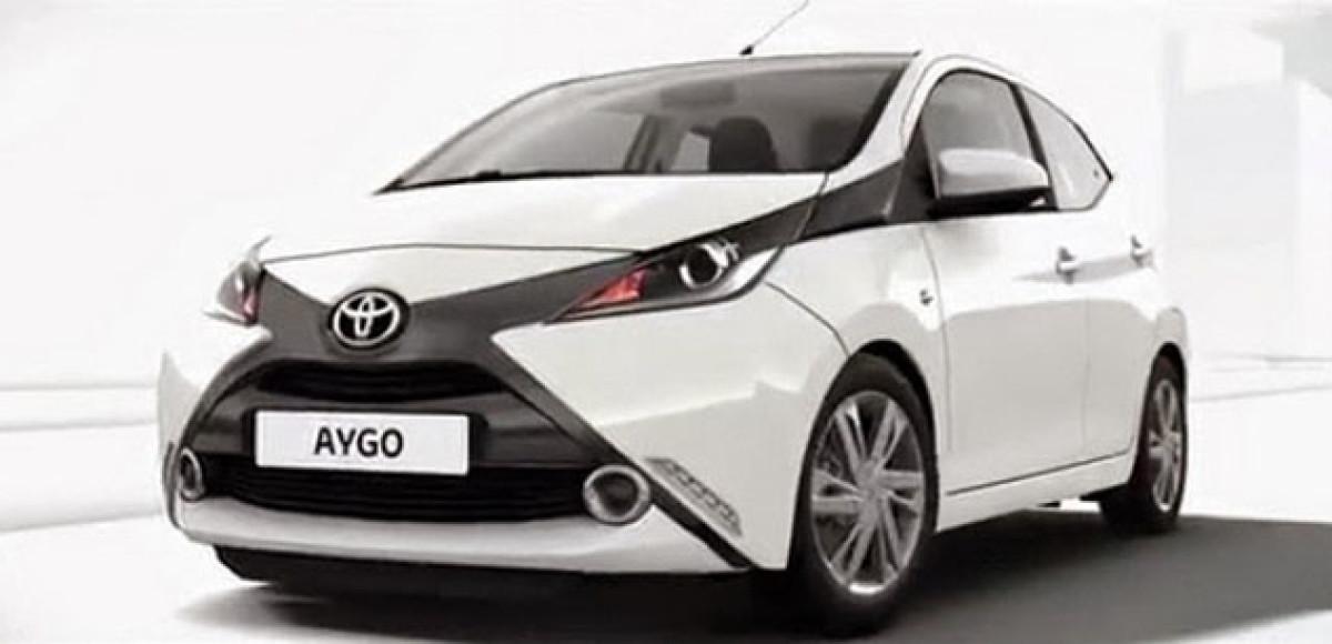 Toyota Aygo показала свое «лицо» последней
