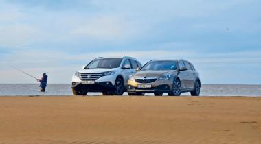 Honda CR-V и Opel Insignia Country Tourer. Эх, хвост, чешуя…