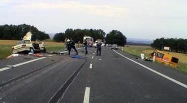 Крупная авария пассажирского автобуса в Казахстане