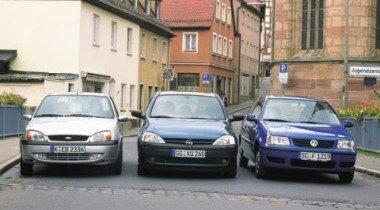 VW Polo vs Ford Fiesta vs Opel Corsa. Городской разговор