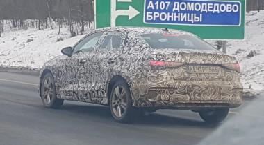 Новый седан Audi A3 проходит испытания в России