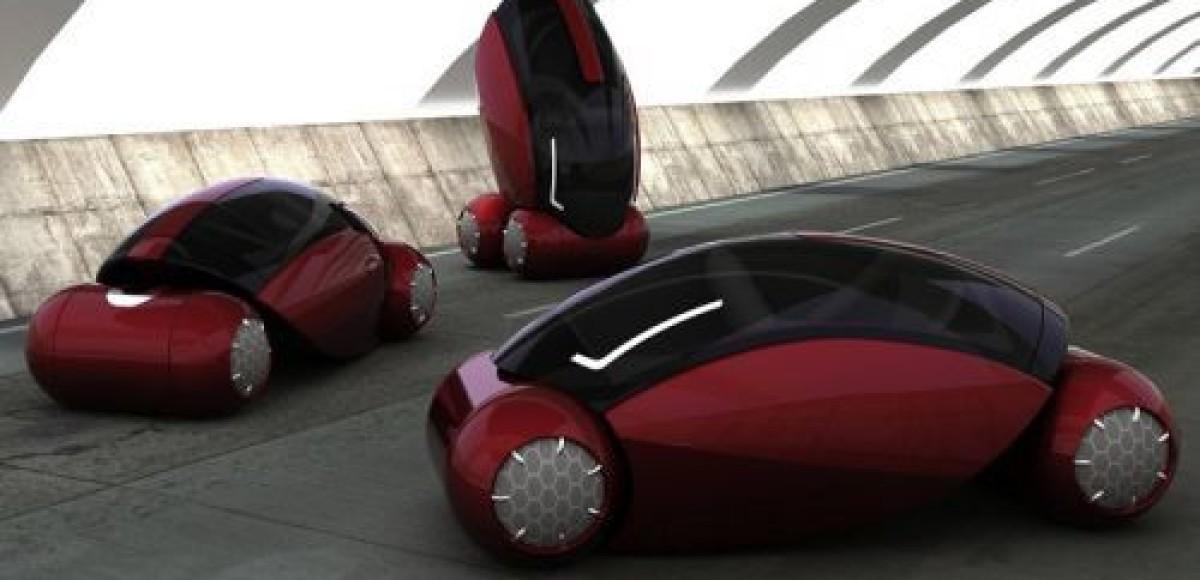 Автомобиль Drop паркуется перпендикулярно земле