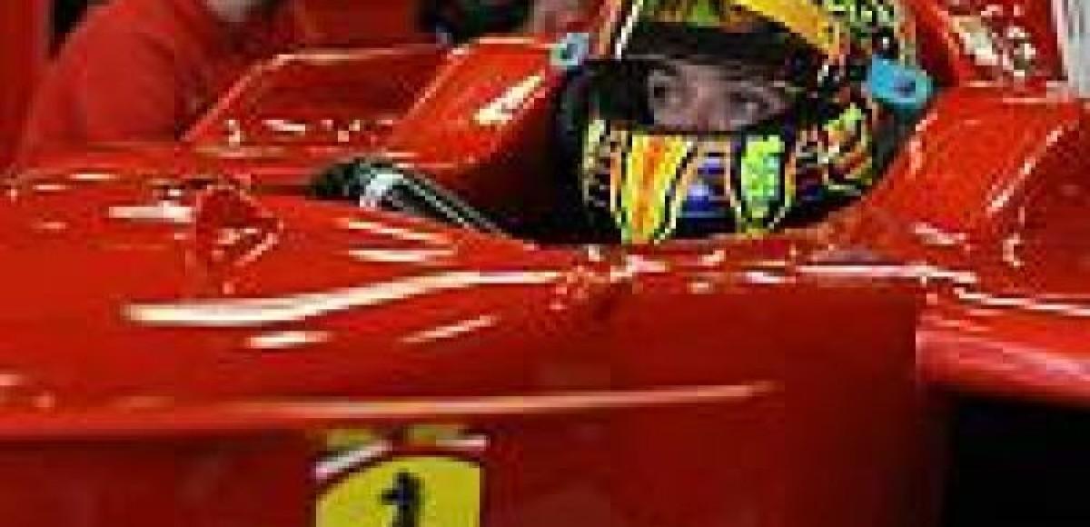 Ferrari  переживает за  Валентино Росси