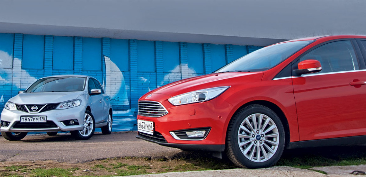 Ford Focus против Nissan Tiida. На крючке