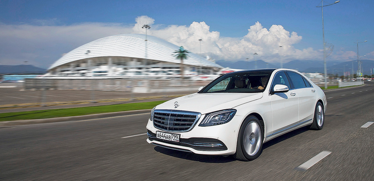 Mercedes-Benz S-Class. Олимпийский факел