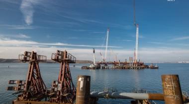 Двухсотая опора Крымского моста