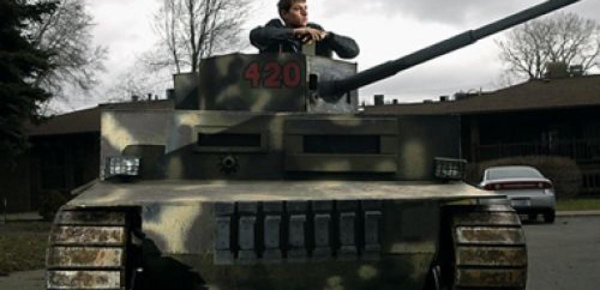 В магазин — на танке