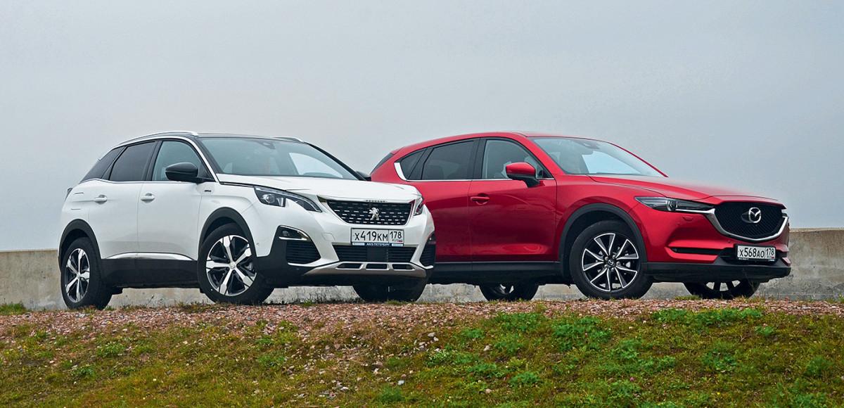 Mazda CX-5 против Peugeot 3008. Стильные штучки