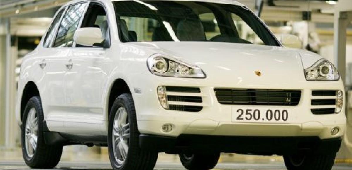 Porsche выпустил 250-тысячный Cayenne