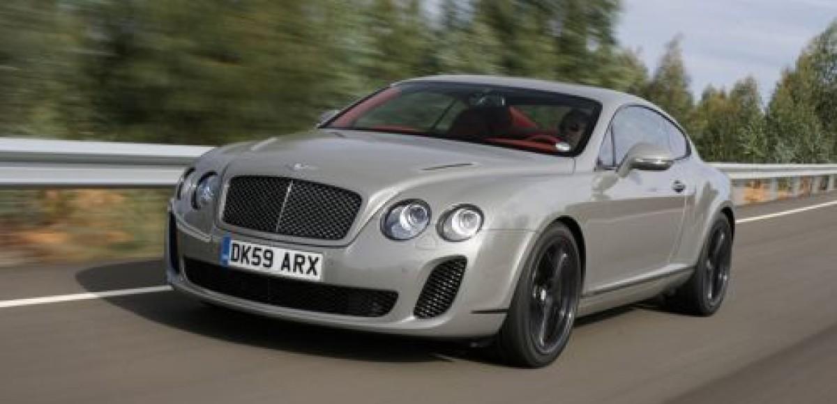 В шоу-руме «Bentley Москва» появился Continental Supersports в сером матовом цвете