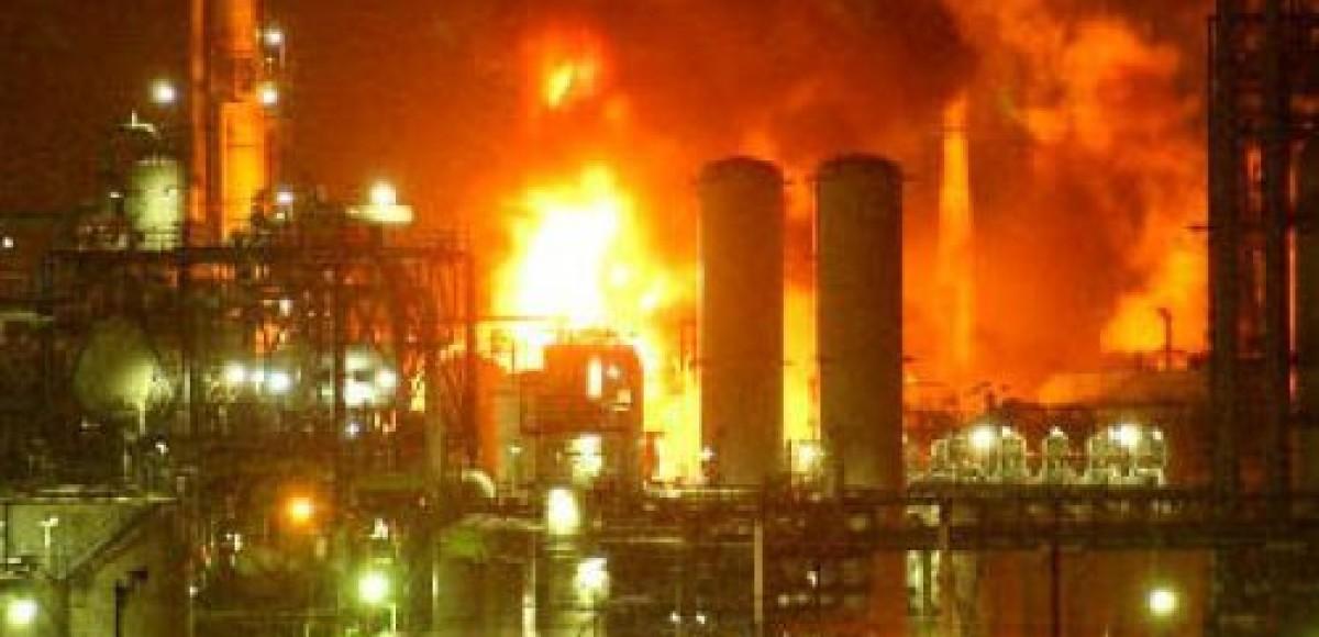 На нефтебазе в пригороде Санкт-Петербурга произошел пожар