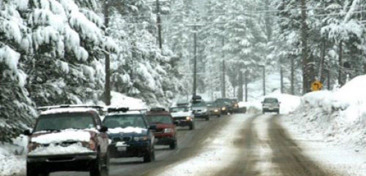 Снегопад осложнил дорожную ситуацию в Москве
