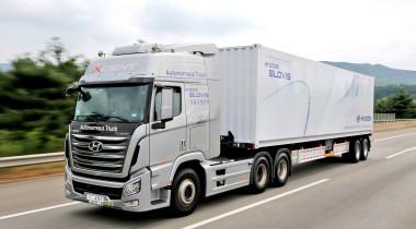 Hyundai Xcient: тест в беспилотном режиме
