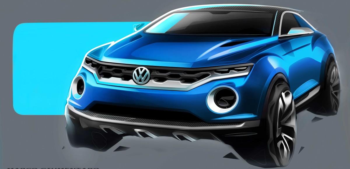 Volkswagen T-ROC — дебют концепта очередного кроссовера состоится в Женеве