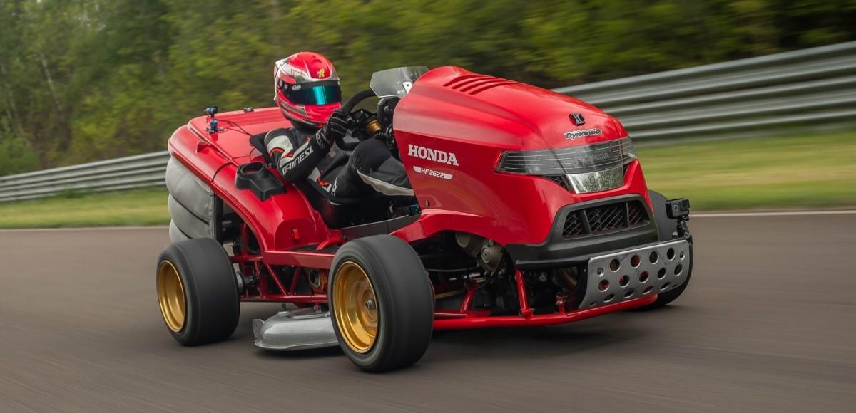 Газонокосилка быстрее спорткара: Honda Mean Mower V2 установила новый мировой рекорд скорости.