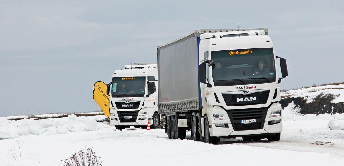 Готовь сани летом: грузовые зимние шины Continental