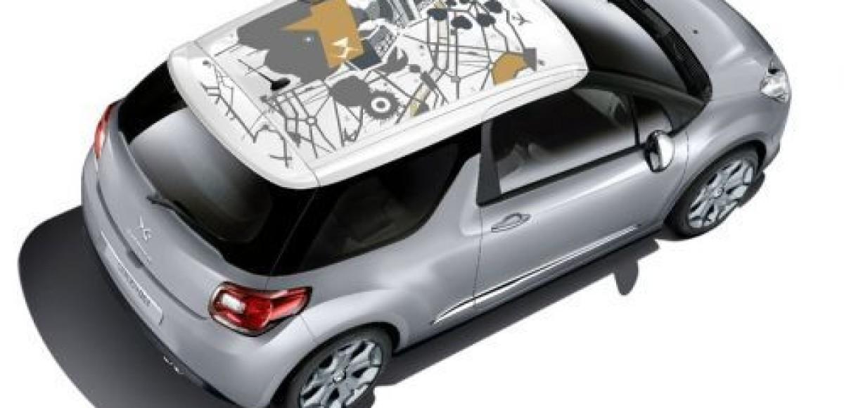 Сitroen предлагает летнюю коллекцию наклеек на крышу DS3